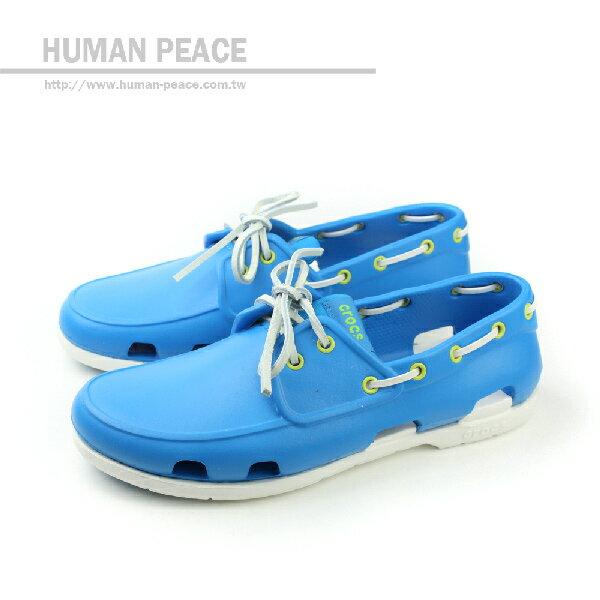 Crocs 海灘帆船鞋 戶外休閒鞋 藍 男款 no247