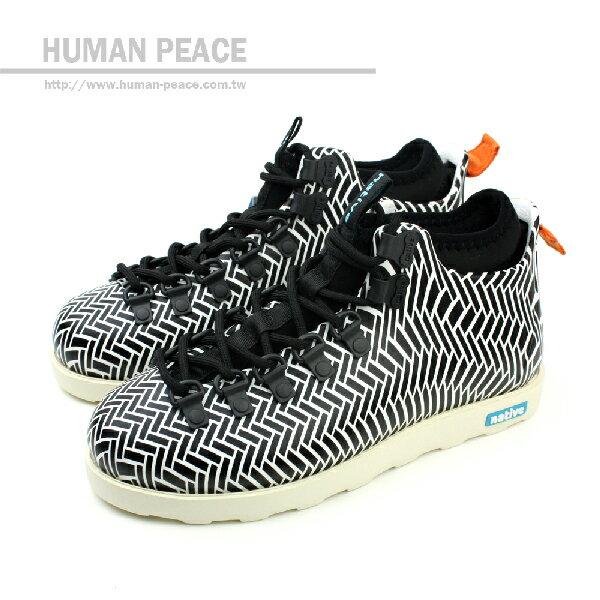 native FITZSIMMONS 防水 輕量 靴子 戶外休閒鞋 黑/白 男款 no264