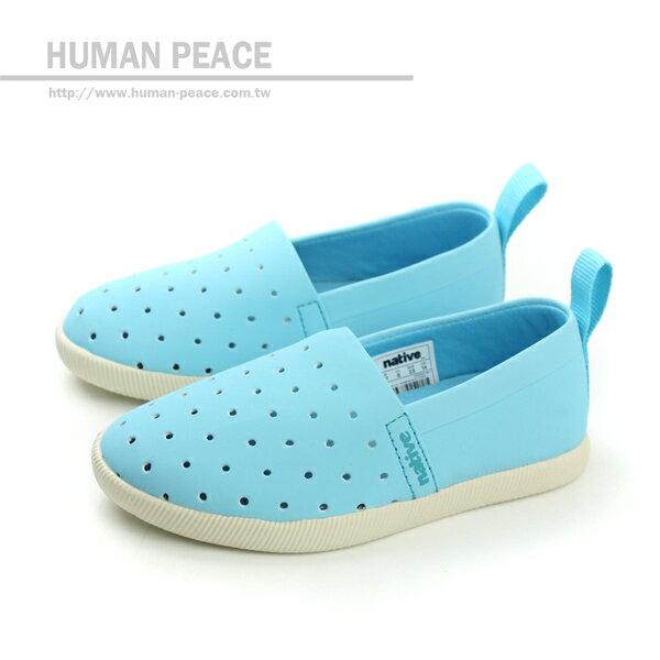 native THE VENICE 威尼斯系列 洞洞鞋 戶外休閒鞋 水藍 小童 no274