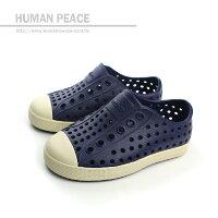 native 輕量懶人鞋、休閒防水鞋到native JEFFERSON CHILD 洞洞鞋 深藍 小童 no304