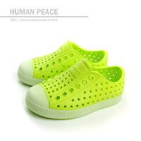 native 輕量懶人鞋、休閒防水鞋到native JEFFERSON CHILD 洞洞鞋 綠 小童 no305