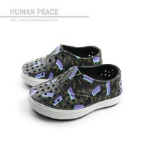 native 輕量懶人鞋、休閒防水鞋到native MILLER PRINT JUNIOR 洞洞鞋 黑 小童 no341