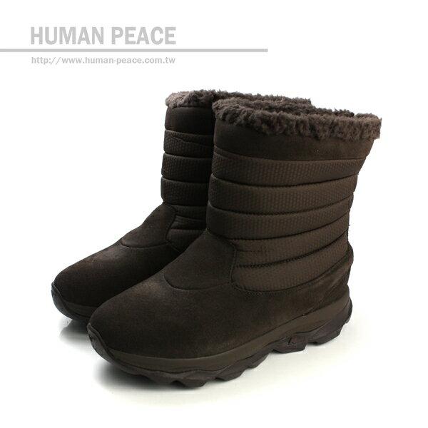 SKECHERS BOUNCE 防潑水鞋面 皮革 舒適 輕量 保暖 靴子 戶外休閒鞋 咖啡 女款 no085