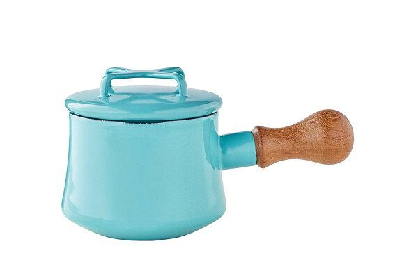 1550ML丹麥DANSK(附蓋15CM)琺瑯材質牛奶鍋片手鍋DANSKKobenstyle木柄盅(2色)北歐風格廚具搬家禮物