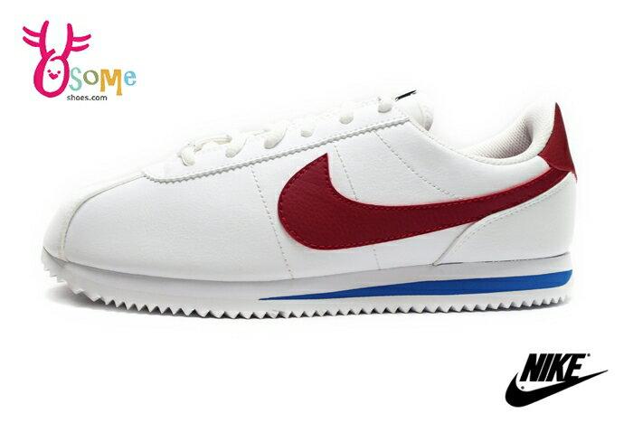 NIKE阿甘鞋 現貨 正版 白紅 Cortez Basic SL (GS)成人女款 復古運動鞋N7176 奧森