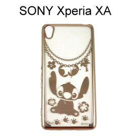 迪士尼電鍍軟殼[項鍊]史迪奇 SONY Xperia XA F3115 (5吋)【Disney正版授權】