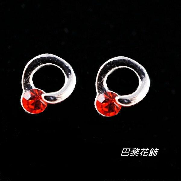 點點之戀  甜蜜心窩水晶耳環~巴黎花飾~ ~  好康折扣