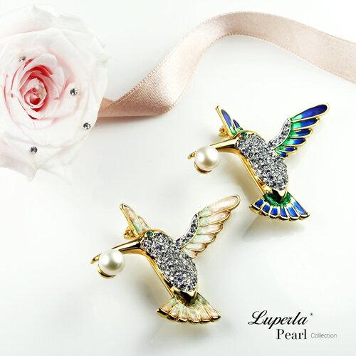 大東山珠寶 luperla:大東山珠寶璀璨蜂鳥珍珠項鍊胸針兩用款