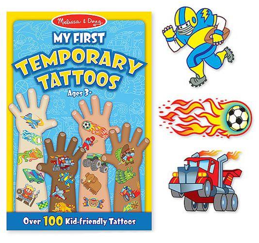 兒童紋身貼紙簿 男孩  美國瑪莉莎 Melissa & Doug