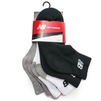 New Balance 美國慢跑鞋/跑步鞋推薦NEW BALANCE 黑 灰 白 純棉 減壓 中筒襪 (3入1組) 男女 (布魯克林) 7831810200
