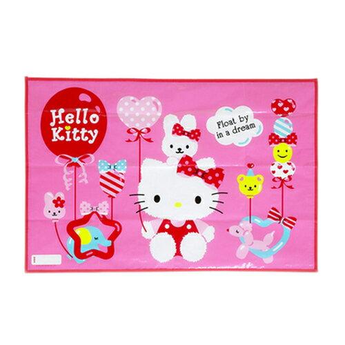 【真愛日本】15091500085 野餐墊附袋-KT歡樂氣球 三麗鷗 Kitty 野餐墊 戶外露營 生活用品