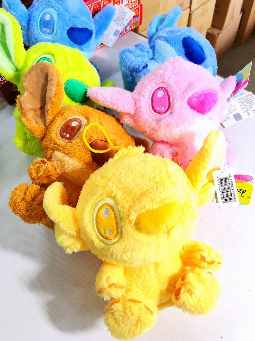 大賀屋 正版 6吋 史迪奇 毛絨 娃娃 玩偶 玩具 擺飾 擺件 多色 星際寶貝 迪士尼 STICH T00120410