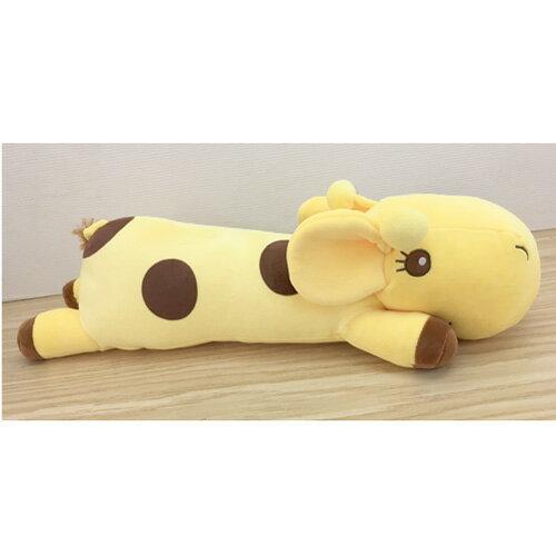 【真愛日本】17062900017 綿柔長趴枕-長頸鹿48cm 動物 大娃娃 玩偶 抱枕 靠枕 療癒系商品