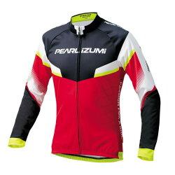 【7號公園自行車】PEARL iZUMi 3455-BL-42  15度男性冬季保暖長袖車衣(紅/白/黑)