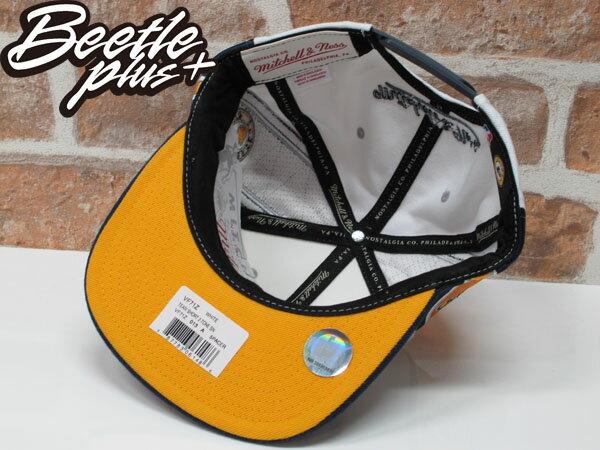 BEETLE MITCHELL&NESS NBA PACERS 印第安 溜馬 白藍黃 LOGO SNAPBACK 後扣帽 2