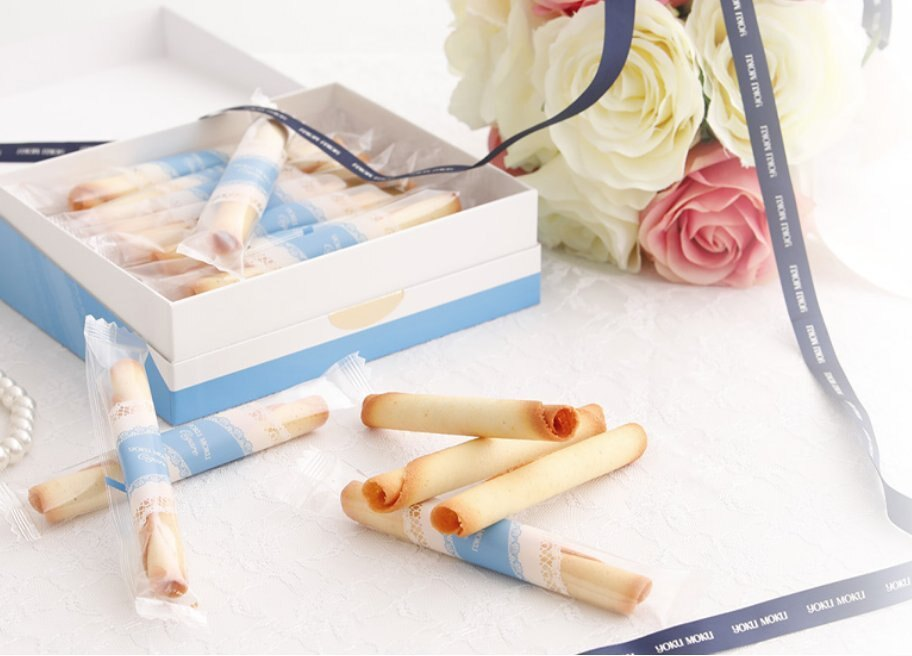 Ariel Wish日本tiffany藍皇冠限量版喜餅YOKU MOKU法式原味雪茄蛋捲禮盒16入幸福的婚禮小物-現貨
