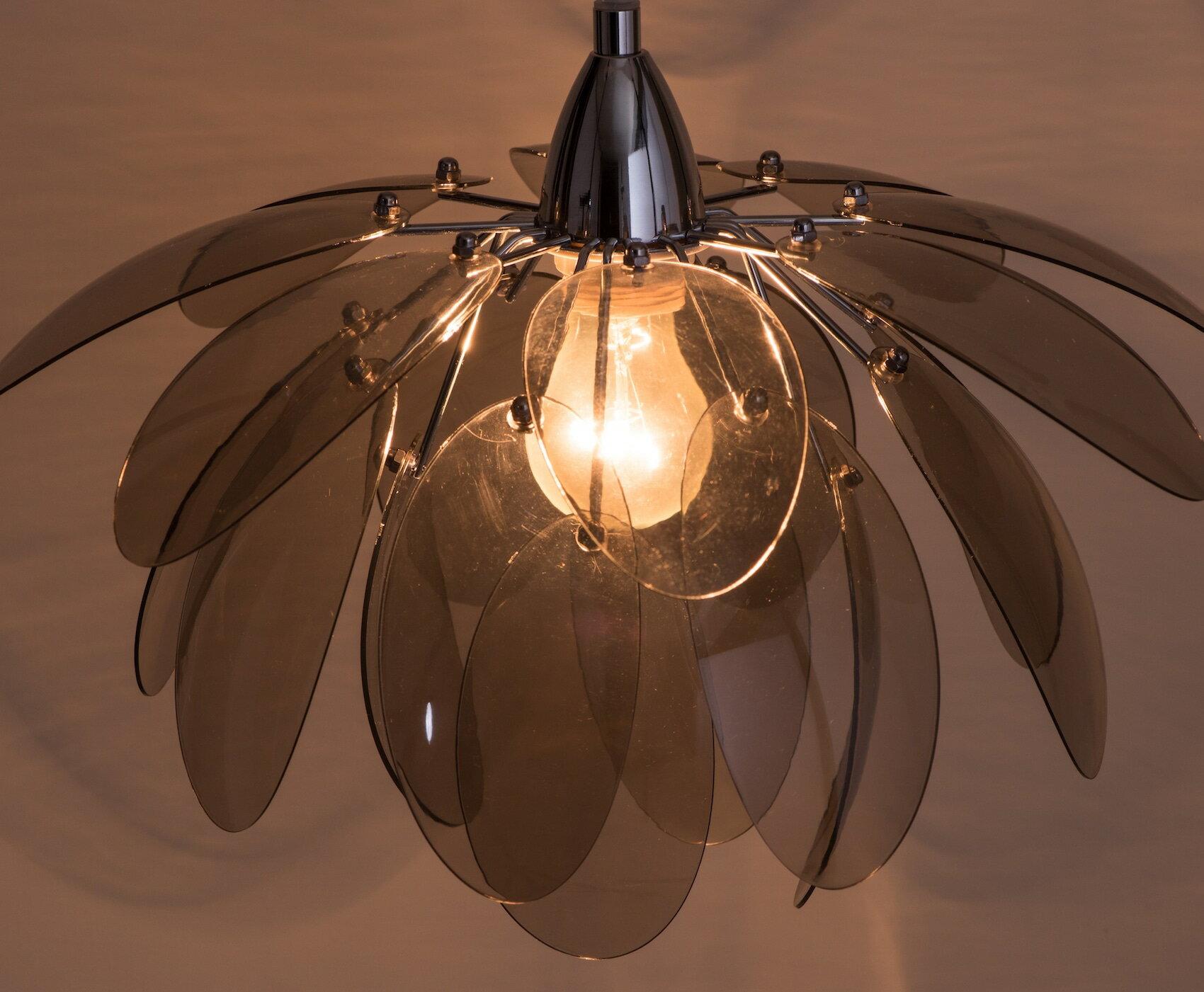煙灰色壓克力花瓣吊燈-BNL00055 6