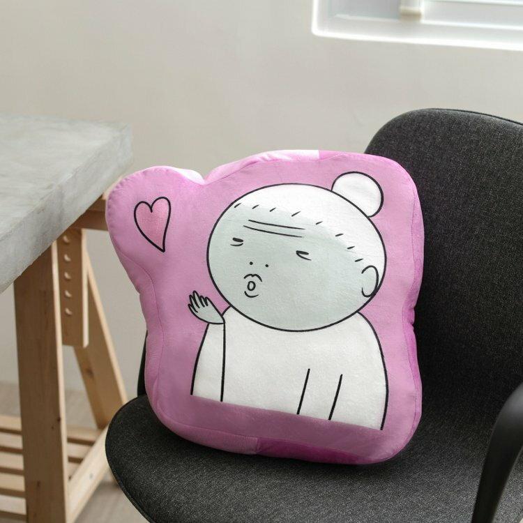 【UNIPRO】鬼門圖文 啾咪阿嬤 造型抱枕 靠枕 午安枕 LINE貼圖