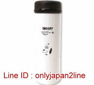 【真愛日本】16121600034輕量不銹鋼保溫瓶350ml-SN大臉白  史努比 SNOOPY  水壺 水瓶