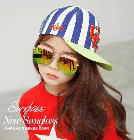Kocotree◆ 時尚質感鏡框弧度紫外線護目兒童成人親子款炫彩太陽眼鏡-粉色(兒童款)