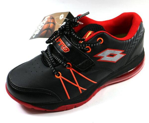 [陽光樂活]LOTTO義大利Kids大童雷神氣墊籃球鞋-LT5AKB2580黑紅