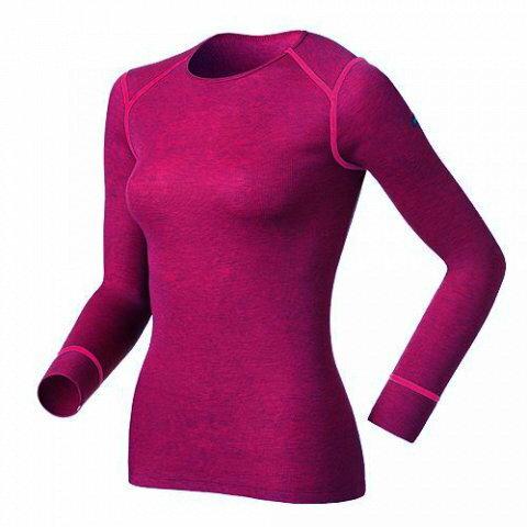 【【蘋果戶外】】odlo 152021-30095 女圓領 紅『送polartec手套』瑞士 機能保暖型排汗內衣 衛生衣 發熱衣 保暖衣 長袖