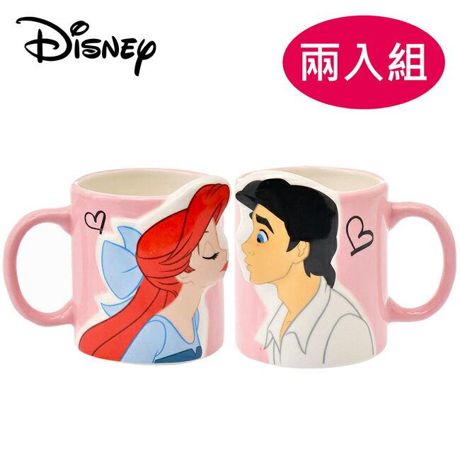 【日本正版】兩入組 小美人魚 馬克杯 325ml 對杯組 咖啡杯 艾莉兒 Ariel 迪士尼 Disney - 235347