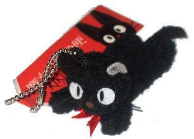【真愛日本】 6050900042 黑貓珠鍊小鎖圈-趴姿 魔女宅急便 黑貓 奇奇貓 鑰匙圈吊飾日貨