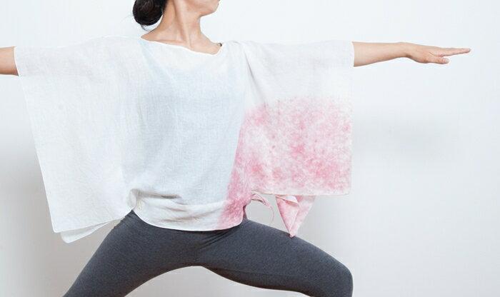 【Bali】亞麻布簡約罩衫 瑜珈服 6