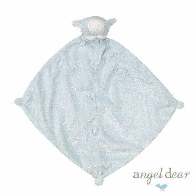 美國Angel Dear 動物嬰兒安撫巾 藍色小羊