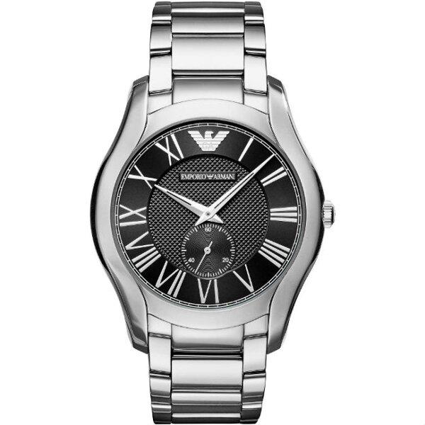 大高雄鐘錶城:EMPORIOARMANIAR11086亞曼尼紳士時尚小秒針簡約腕錶黑面43mm