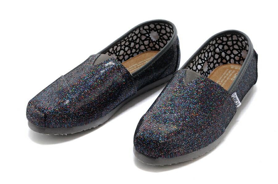 【TOMS】經典亮片款平底休閒鞋(七彩黑色)  Authentic Multi Glitter Women's Classics【全店免運】 3