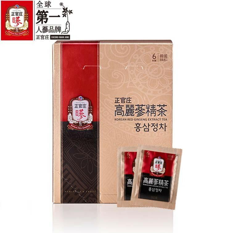 宅配免運【正官庄】高麗蔘精茶50包 / 盒 禮盒裝 高濃度蔘茶 濃縮即溶茶粉 4 / 10左右出貨 0