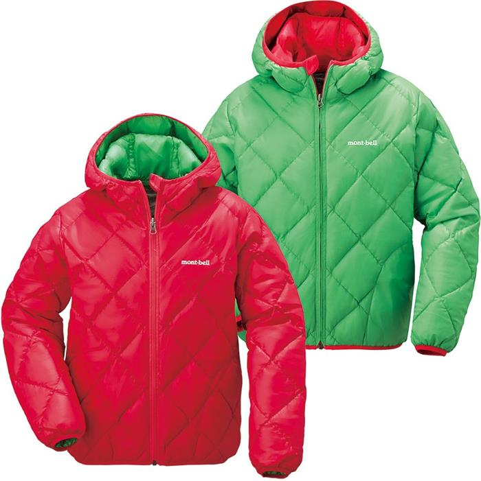 Mont-Bell 雙面羽絨外套 兒童款7-13歲 Reversible Down Parka 1101487 MG/SM 粉綠/紅