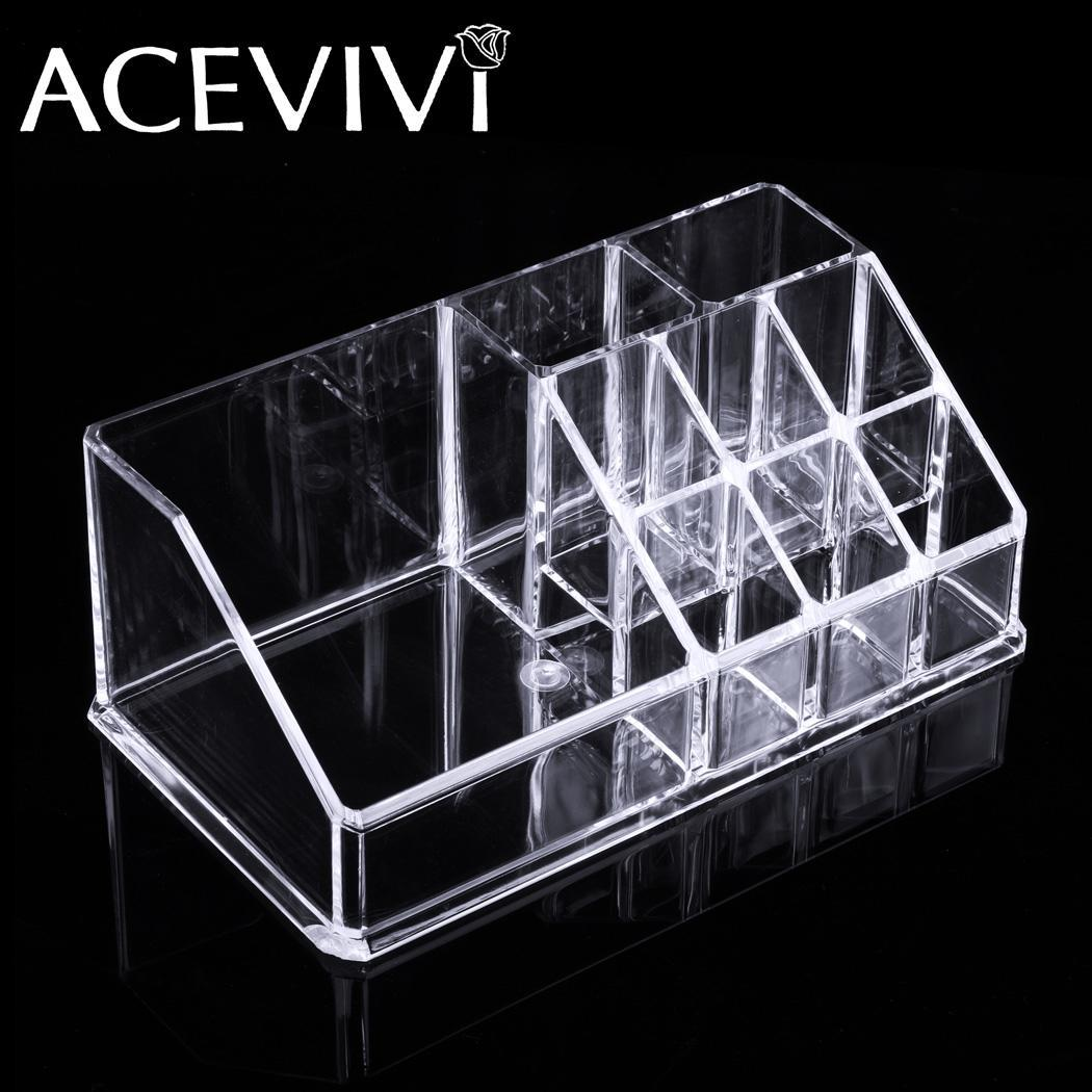 Acrylic Cosmetic Drawers Grids 2 Tiers Storage 3