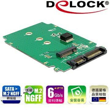 Delock SATA 22 pin to M.2 NGFF轉接板-62521