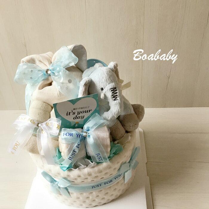 特別創意彌月禮:音樂小象超精緻尿布蛋糕