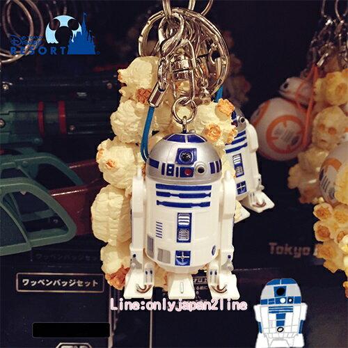 【真愛日本】17091400018 樂園限定鎖圈-爆米花筒R2D2 星際大戰 迪士尼帶回 鑰匙圈 鎖圈 吊飾