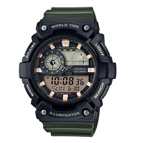 CASIO世界隨我行強悍有力運動腕錶AEQ-200W-3A
