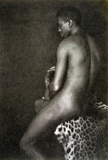 Day Nude C1897 Nportrait Of A Nude Man Sitting On A Leopard Skin Platinum Print Photograph By F Holland Day C1897 Rolled Canvas Art - (18 x 24) a8d0b33ab0d579002e831a8be96cab58
