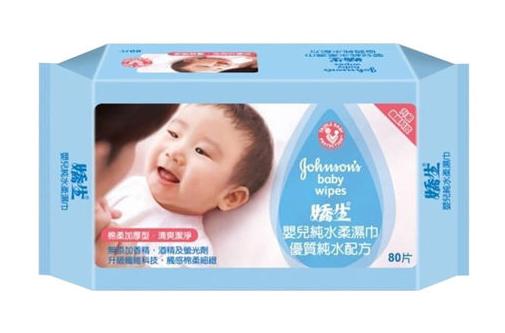 嬌生嬰兒加厚型純水柔濕巾80片