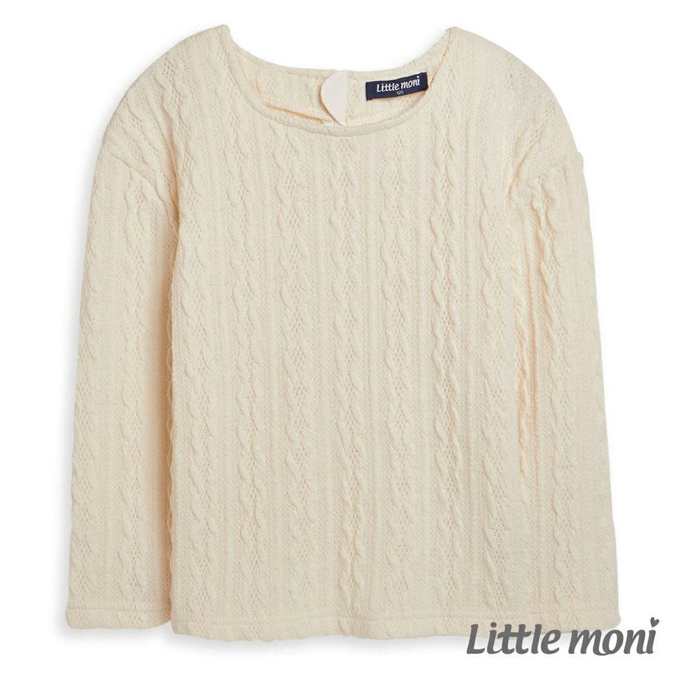 Little moni 針織麻花上衣-象牙白 0