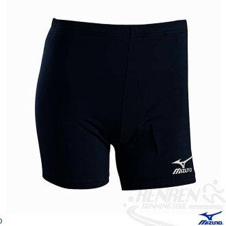 MIZUNO美津濃 三分長緊身褲(黑.XL~3XL) 吸汗速乾彈性布料 U2TB4G1109