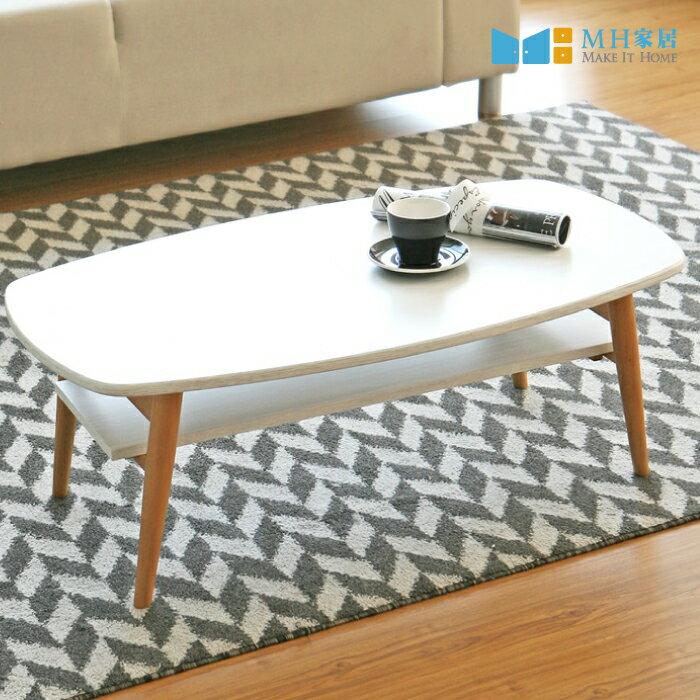 韓國 羅森雙層折疊茶几 韓系 和室桌 客廳桌 摺疊桌 MH家居