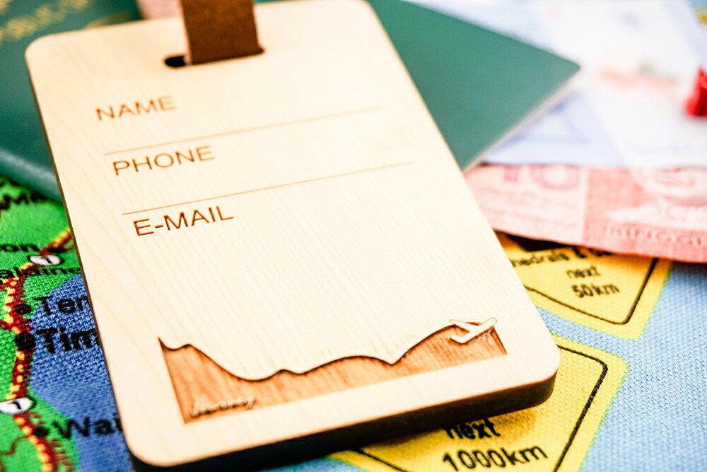 加拿大檜木 原木高質感行李吊牌✈ 雷雕個人資料(姓名/電話/信箱) 加價150元下標處
