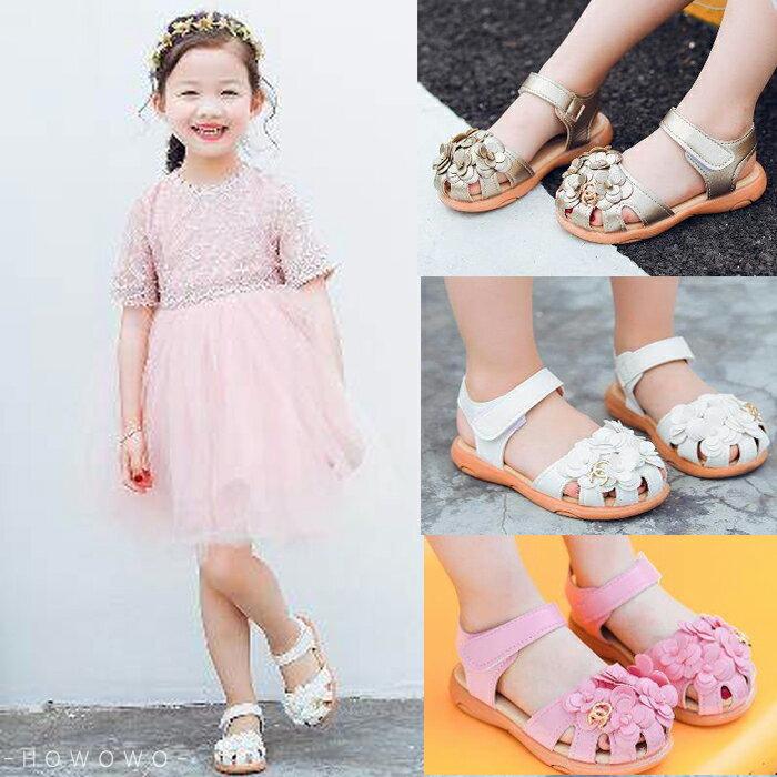 女童涼鞋 小花造型涼鞋 透氣止滑 娃娃鞋 公主鞋 休閒女童鞋 (13-15CM) KL69 好娃娃 6