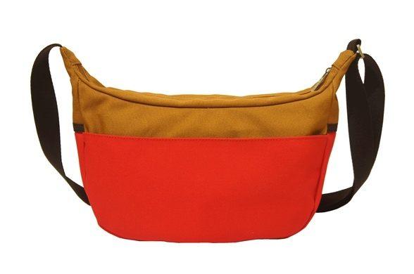 CORRE【CG71067帆布撞色斜背包】共三色 紅/土耳其藍/馬卡龍綠 1