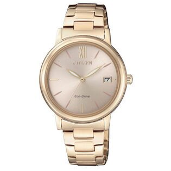 CITIZEN星辰錶FE6093-87X簡約時尚光動能腕錶粉紅面33mm