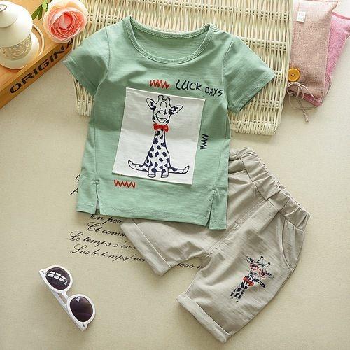 嬰兒短袖套裝短袖上衣+短褲寶寶童裝CK11754好娃娃