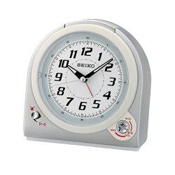 SEIKO鬧鐘 可調音量白色滑動秒針【NV108】